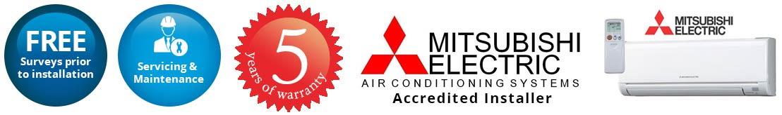 mitsubishi air conditioning Swindon